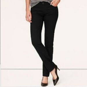 Ann Taylor Loft Black Modern Skinny Jeans Size 10